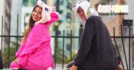 Einhorn Kostüm als Schlafanzug nutzbar